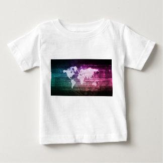 Camiseta Para Bebê Conexão de rede global e integrado
