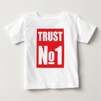Camiseta Para Bebê Confiança ninguém