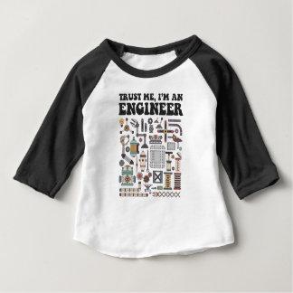 Camiseta Para Bebê Confie-me, mim são um engenheiro