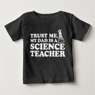 Camiseta Para Bebê Confie que eu meu pai é um professor de ciências