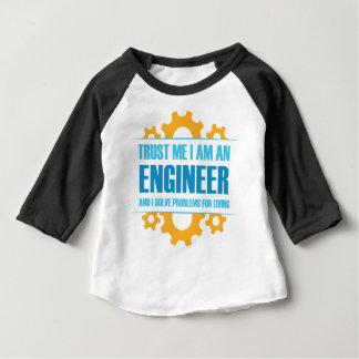 Camiseta Para Bebê Confie que eu mim é um engenheiro