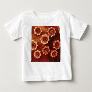 Camiseta Para Bebê conjunto de flor vermelho