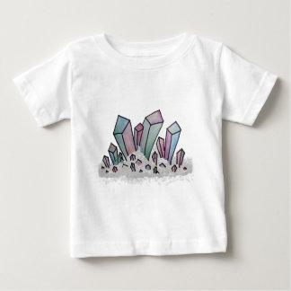 Camiseta Para Bebê Conjunto Pastel do cristal da aguarela