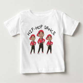Camiseta Para Bebê Considerando de Hip Hop da menina do dançarino do