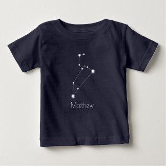 Camiseta Para Bebê Constelação personalizada do zodíaco de Leo do