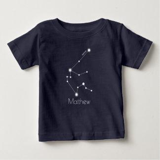 Camiseta Para Bebê Constelação personalizada do zodíaco do Aquário do