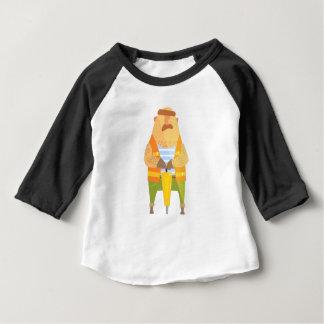 Camiseta Para Bebê Construtor com o Jackhammer no canteiro de obras