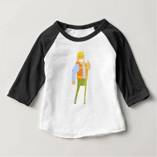 Camiseta Para Bebê Construtor de sorriso que mostra os polegares