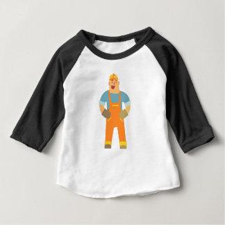 Camiseta Para Bebê Construtor feliz no canteiro de obras. Design