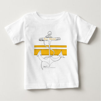 Camiseta Para Bebê contra-almirante do ouro, fernandes tony
