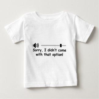 Camiseta Para Bebê Controle de volume
