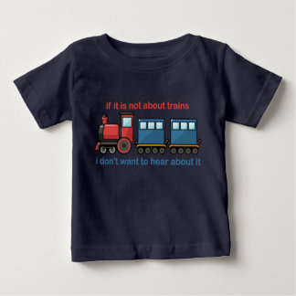 Camiseta Para Bebê Conversa do trem