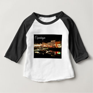 Camiseta Para Bebê Copenhaga na noite