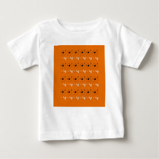 Camiseta Para Bebê Cor da argila dos elementos do design