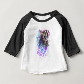 Camiseta Para Bebê Cor de água do gato rujir