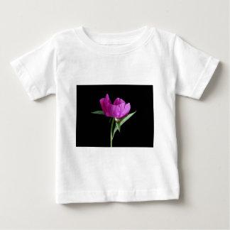 Camiseta Para Bebê cor-de-rosa-peônia