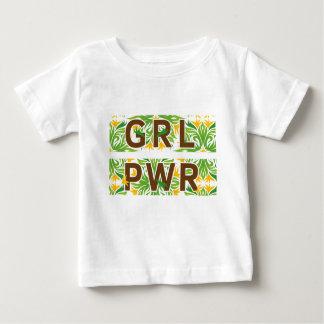 Camiseta Para Bebê Cor do poder da menina