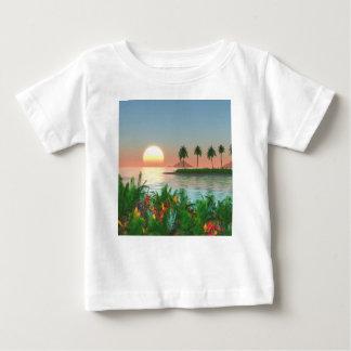 Camiseta Para Bebê Cor do trópico