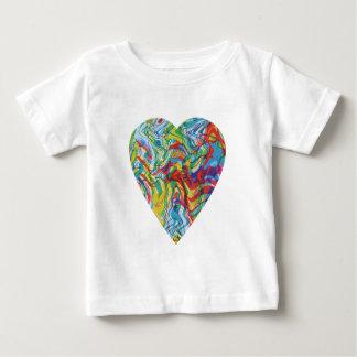 Camiseta Para Bebê Coração #2 da arte do pulso aleatório