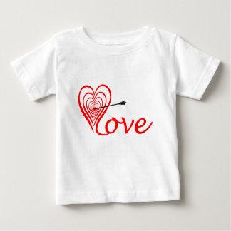 Camiseta Para Bebê Coração amor alvo com seta