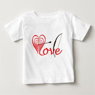 Camiseta Para Bebê Coração amor alvo com seta e arco