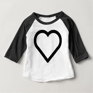 Camiseta Para Bebê Coração bonito