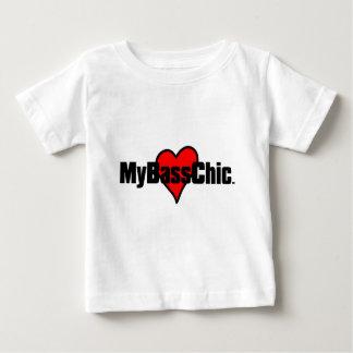 Camiseta Para Bebê Coração carmesim de MyBassChic (TM)