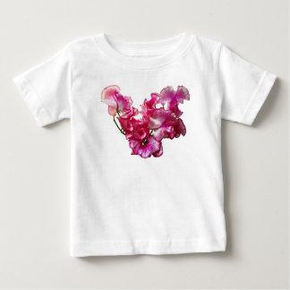 Camiseta Para Bebê Coração cor-de-rosa da ervilha doce
