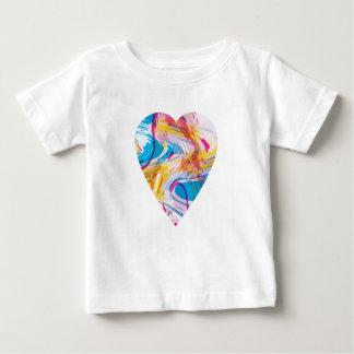 Camiseta Para Bebê Coração da arte do pulso aleatório