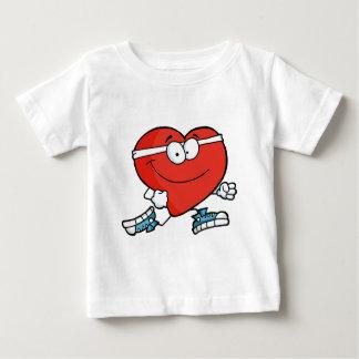 Camiseta Para Bebê Coração da corrida