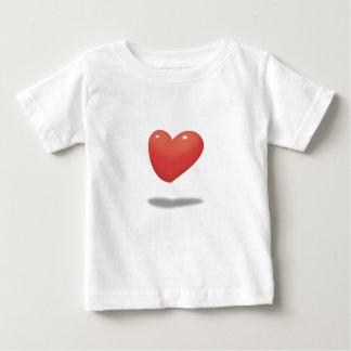 Camiseta Para Bebê Coração de flutuação, balão do coração