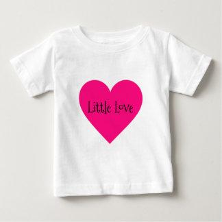 Camiseta Para Bebê Coração do amor do rosa quente