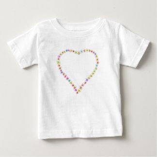 Camiseta Para Bebê Coração do bebê