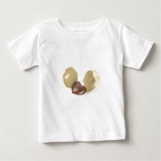 Camiseta Para Bebê Coração do chocolate