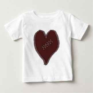 Camiseta Para Bebê Coração do futebol