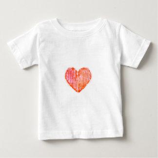 Camiseta Para Bebê Coração do gráfico do Grunge do estilo do pop art