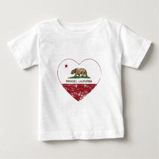 Camiseta Para Bebê coração do paraíso da bandeira de Califórnia