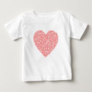 Camiseta Para Bebê Coração do sinal de paz