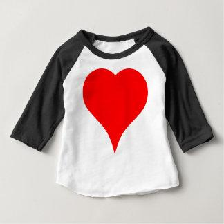 Camiseta Para Bebê Coração grande