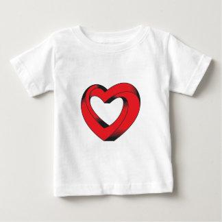 Camiseta Para Bebê coração impossìvel torcido