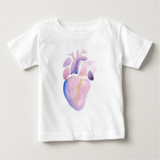 Camiseta Para Bebê Coração muito violeta