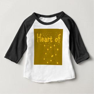Camiseta Para Bebê coração presente do equipamento do bebê do ouro do