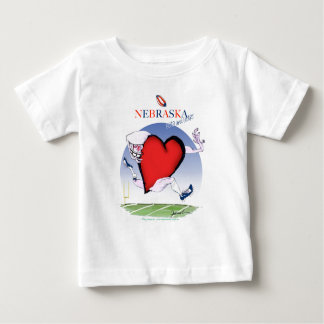 Camiseta Para Bebê coração principal de nebraska, fernandes tony
