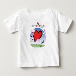 Camiseta Para Bebê coração principal de North Carolina, fernandes