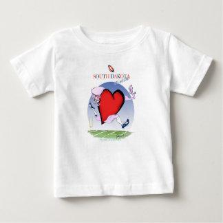 Camiseta Para Bebê coração principal de South Dakota, fernandes tony