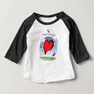 Camiseta Para Bebê coração principal de Wisconsin, fernandes tony