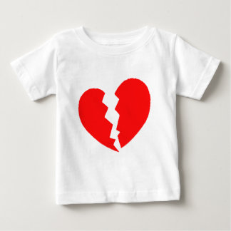 Camiseta Para Bebê Coração quebrado
