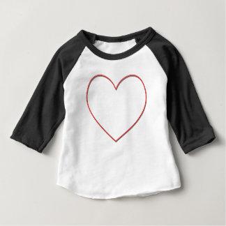 Camiseta Para Bebê coração simples 2