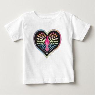 Camiseta Para Bebê Corações da papoila dos troll |
