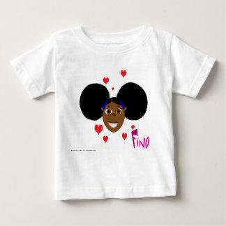 Camiseta Para Bebê Corações do amor de Fino